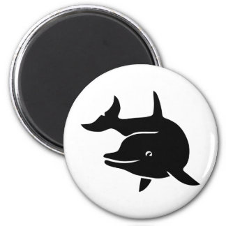 dolphin dolphin dolphin more flipper whale 2 inch round magnet