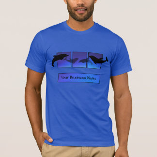 Dolphin Dolphins Blue Business T-shirt
