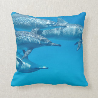 Dolphin Dolphins Fish Dive Ocean Water Swim Beach Throw Pillow
