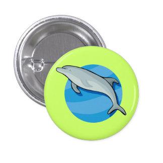 Dolphin Dolphins Marine Mammals Blue Ocean Animal Buttons