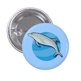 Dolphin Dolphins Marine Mammals Blue Ocean Animal Pinback Button