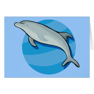 Dolphin Dolphins Marine Mammals Blue Ocean Animal Card