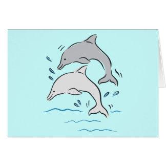 Dolphin Dolphins Marine Mammals Ocean Card