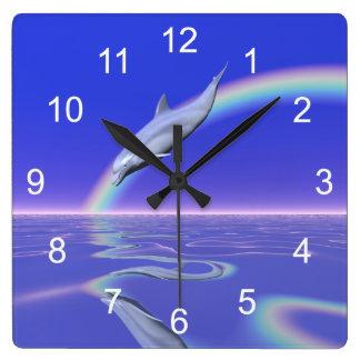 Dolphin Download Square Wallclocks