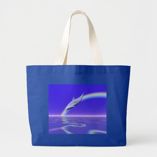 Dolphin Download Tote Bag