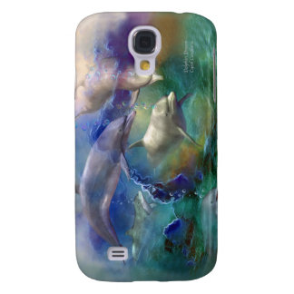 Dolphin Dream Art Case for iPhone 3 Samsung Galaxy S4 Cover