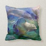 Dolphin Dream Art Designer Pillow
