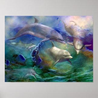 Dolphin Dream Art Poster/Print Poster
