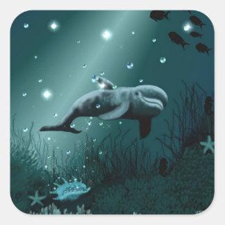 Dolphin Dream (Edit) Square Sticker