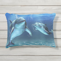 Dolphin Dream Outdoor Accent Pillow