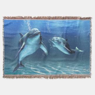 Dolphin Dream Woven Throw Blanket