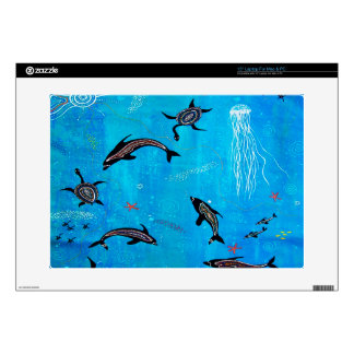 "Dolphin Dreaming 15"" Laptop Decal"