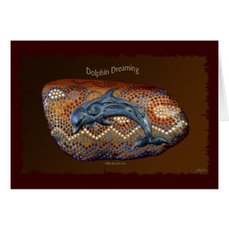 DOLPHIN DREAMING Aboriginal Art Note Card