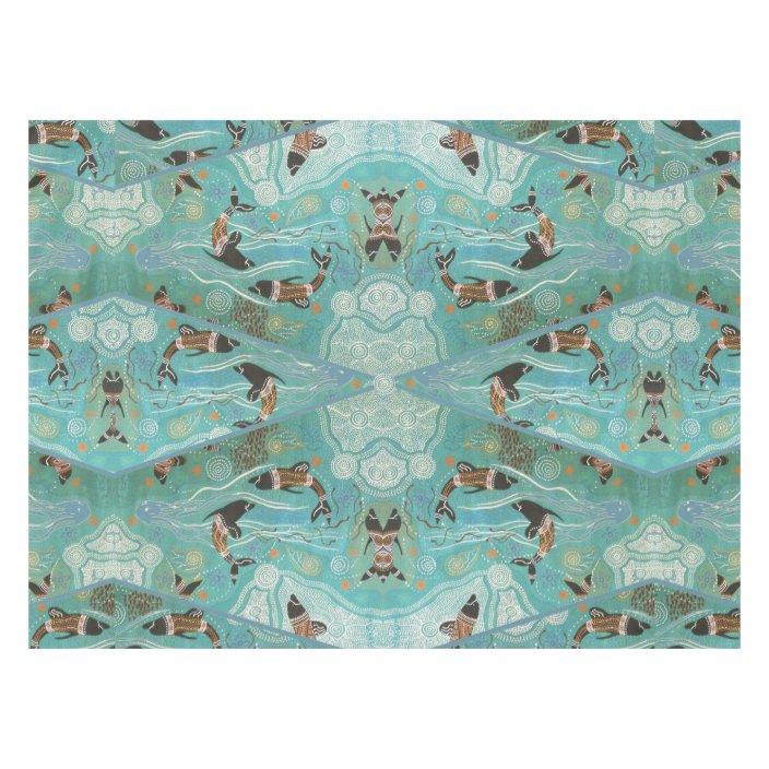 Dolphin Dreaming Aboriginal Art Tablecloth Zazzle Com
