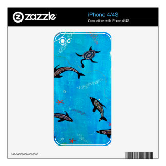 Dolphin Dreaming Decals For The iPhone 4S