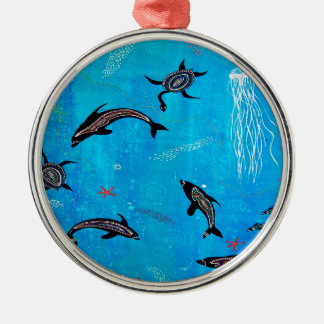 Dolphin Dreaming Metal Ornament