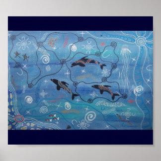 Dolphin Dreaming Poster by Mundara