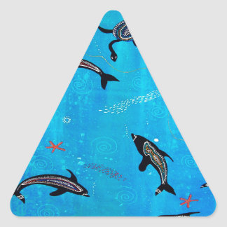Dolphin Dreaming Triangle Sticker