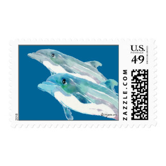 Dolphin Duet Custom Postage Stamps