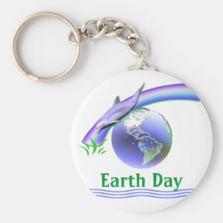 Dolphin Earth Day Keychain