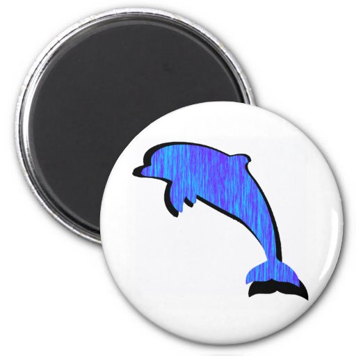 DOLPHIN ELECTRIC BLUE MAGNET