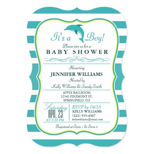 elegant nautical theme baby shower 5x7 paper invitation card zazzle