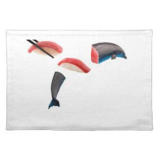 Dolphin, er, Tuna Sushi Cloth Placemat