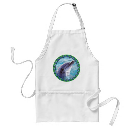 Dolphin Face Adult Apron
