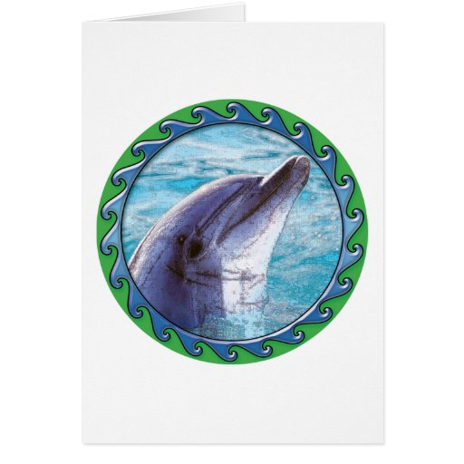 Dolphin Face Greeting Card