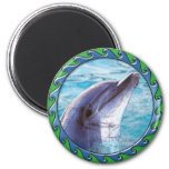Dolphin Face Refrigerator Magnet