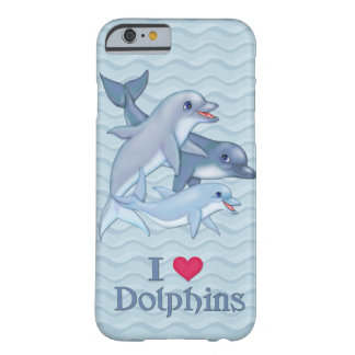Dolphin Family Barely There iPhone 6 Case