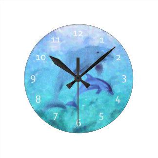 Dolphin Family Clocks