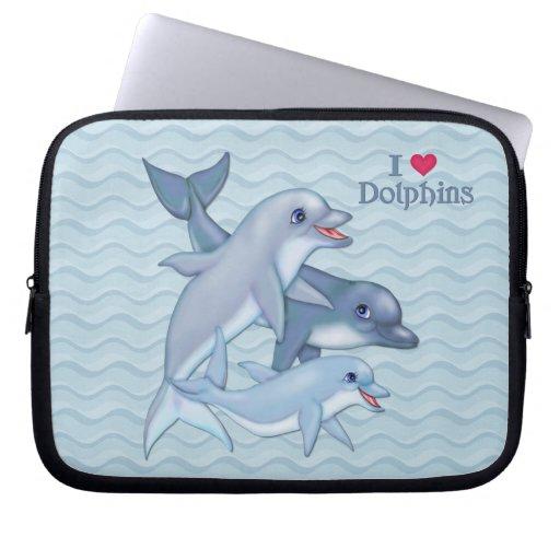 Dolphin Family Computer Sleeve