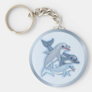 Dolphin Family Keychains