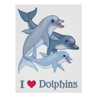Dolphin Family Poster