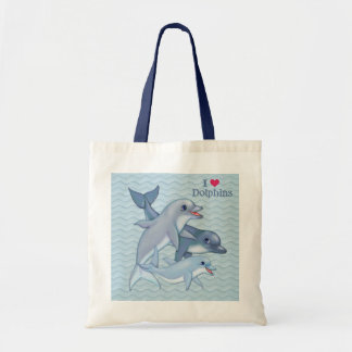 Dolphin Family Tote Bag