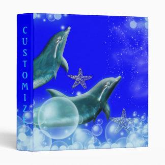 Dolphin fantasy art kids 3 ring binder