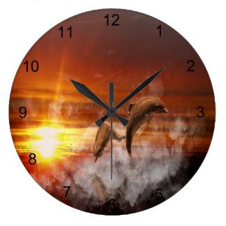 Dolphin Fantasy Large Clock