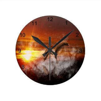 Dolphin Fantasy Round Clock