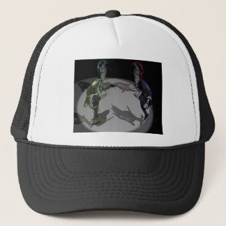 Dolphin Figurines Trucker Hat