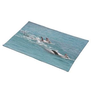 dolphin fin place mat