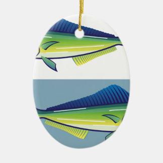 Dolphin Fish Ceramic Ornament