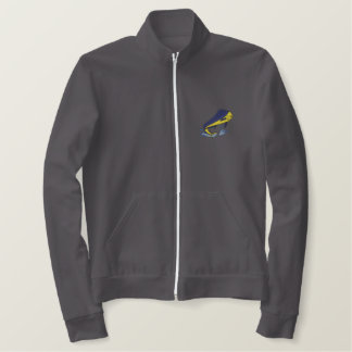 Dolphin Fish Embroidered Jacket