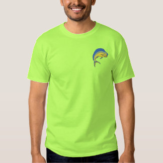 Dolphin Fish Embroidered T-Shirt