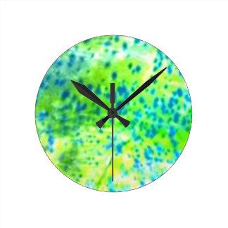 """Dolphin Fish"" - Mahi Mahi by PatternWear© Round Clock"