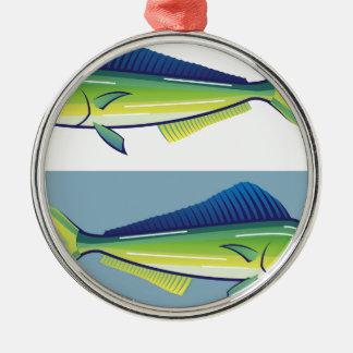 Dolphin Fish Metal Ornament