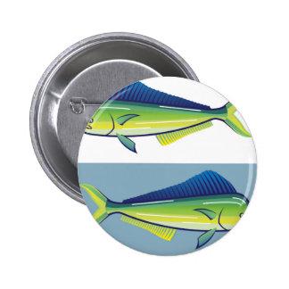 Dolphin Fish Pinback Button