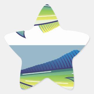Dolphin Fish Star Sticker