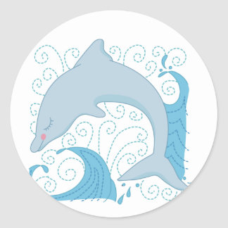 Dolphin Flip Tshirts and Gifts Classic Round Sticker