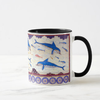 Dolphin Fresco from the Minoan Palace of Knossos Mug